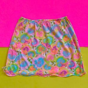 Vintage 60s psychedelic half slip skirt S